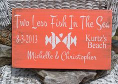 Beach Wedding Sign - Wedding Sign - Beach Decor - Beach Theme - Wedding Gift - Anniversary - Personalized - Customized - Hand Painted via Etsy