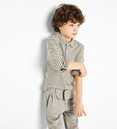 Striped fabric shirt-SHIRTS-BOY | 4-14 years-KIDS | ZARA United States