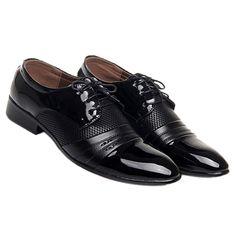 Pánské společenské boty - černé. DOPRAVA ZDARMA