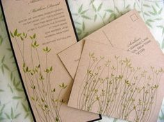 These are awesome invitations  :-) they're made of recycled paper too