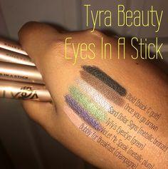 Tyra Beauty new Eyes In A Stick shades. www.tyra.com/monicamanzano