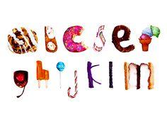 Bonbon   Hand-drawn Letterforms   Alaina Virginia http//:www.alainavirginia.com