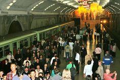 Час пик в метро Пхеньяна