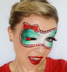Monkey Face Paint, Doll Face Paint, Adult Face Painting, Skull Painting, Face Painting Tutorials, Face Painting Designs, Christmas Face Painting, Clown Faces, Christmas Makeup