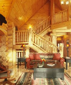 Log home interior: Tennessee 2