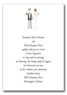 Wedding Invite Wording Casual Wedding Invitations With Formal