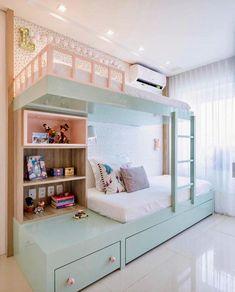 Kids Bedroom Designs, Room Design Bedroom, Room Ideas Bedroom, Small Room Bedroom, Home Room Design, Small Rooms, Bed For Girls Room, Bedroom Decor For Teen Girls, Room Kids
