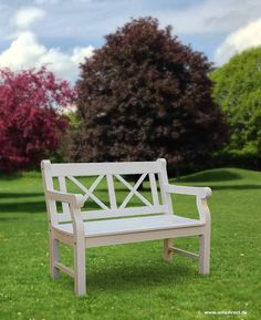Englische Holz Gartenbank CLIFF Im Klassischem Landhausstil   Als 2er Oder  3er Ab EUR 279,  Erhältlich. Besonders Schön Finde Ich Die Weiße Gartenbank  Mit ...