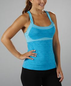 Take a look at this Aquarius Eclipse Banded Tank by Marika on #zulily today!