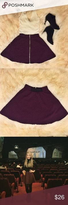 Cooperative Purple Skater Skirt with Zipper detail XS but has stretch! Worn only a few times. EUC. Cooperative Skirts Circle & Skater