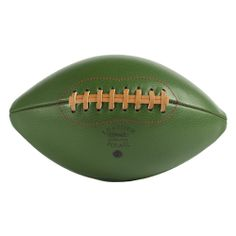 Old school ball. Bob's Your Uncle, School Football, Wash Bags, Old Skool, American Football, Green Leather, Shades Of Green, Color Inspiration, Black And White
