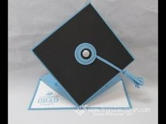 Stamp & Scrap with Frenchie: Graduation Easel Cap Card