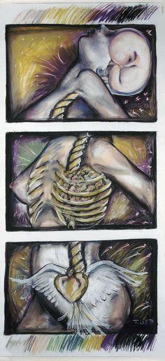 A découvrir au 8ème Salon de Peinture toutes techniques en ligne sur www.myrankart.com   Hurlement by Thérèse Lafreniere