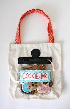 Fun Bags: Cookie jar bag.  ADORBS!! #danamadeit