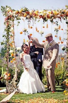 Fall weddings are fascinating! I love the adorable autumn colors like crimson, chocolate, yellow, green and burgundy for inspiring fall wedding décor. Many of us choose outdoor fall weddings if the weather allows as trees with colorful leaves...