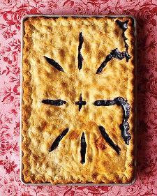 Blueberry Slab Pie - Martha Stewart Recipes... oh Yum!