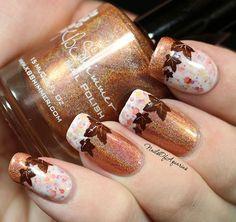 70 Fotos de uñas decoradas para el otoño \u2013 Autumn nail art