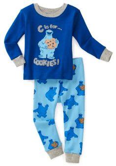 Hatley - Baby Boys Infant Monsterc Is For Cookielong Sleeve Pajama Set