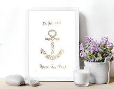 Wohnaccessoires silber  Poster Gold, Silber o. Kupfer Hochzeitsgeschenk | Produkte, Plakat ...