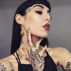 beautiful makeup and tattoos