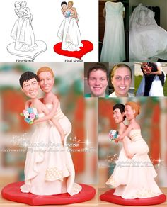 Lesbian Wedding Cake Toppers Two Brides
