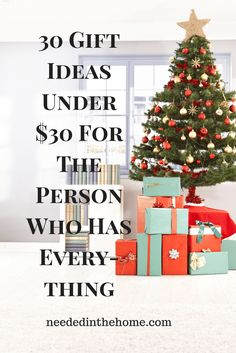 30 Gift Ideas Under $30 For The Person Who Has Everything / #HolidayGiftGuides #ChristmasGiftIdeas #WhoHasEverything #GiftsForHer #GiftsForHim