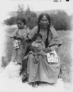 Colville woman, her infant, and small daughter, Colville Indian Reservation, Washington, ca. 1905.  Photo by Edward H. Latham.