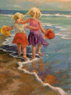 "Galleries in Carmel California- Jones & Terwilliger - Corinne Hartley ""Waters Edge Walk"""