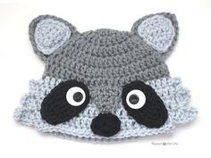 Crochet Raccoon Hat