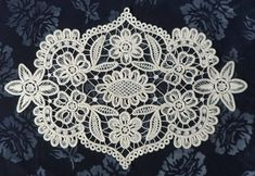 These pretty doilies are made in Romanian Point lace, a European vintage lace technique. Each kit in Crochet With Cotton Yarn, Crochet Cord, Crochet Lace, Crochet Hooks, Doilies Crochet, Dmc Embroidery Floss, Paper Embroidery, Crochet Doily Patterns, Fabric Patterns