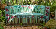 mosaic bench images   All images C copyright Ray Garrod, Irene Pearce Stone 2010