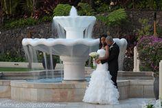 The best wedding fountain! Photo by Tad Craig Photography  @Mandy Bryant Bryant Dewey Seasons Resort Maui
