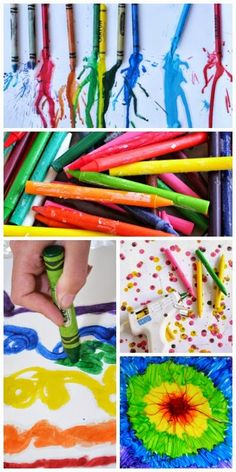 16 art projects for kids using melted crayons