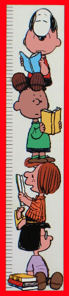 Peanuts Gang Book Reading Chart - Over 3 Feet High!###