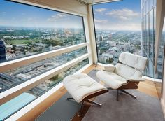 Warsaw seen from 50th floor of ZŁOTA 44 #view#bedroom#Złota44#warsaw#city#skycraper