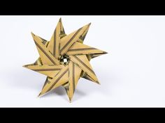 MONEY Origami STAR folding as Christmas gift, DIY instructions - YouTube