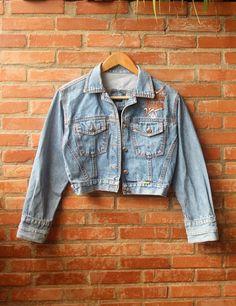 jaqueta jeans vintage - casaquinhos grota funda tribe
