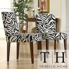 Zebra Animal Print Chair (Set of 2) Creates a Modern Look with Upholstered Awesome Accent, http://www.amazon.com/dp/B0043ERLIS/ref=cm_sw_r_pi_awdm_bPrdtb0W5TV7A