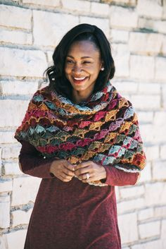 Denver Sunset Shawl - Crochet Pattern