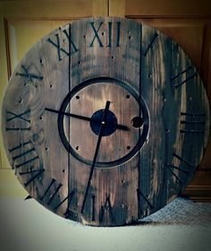 DIY Clock From Wire Spool