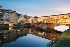 Ponte Vecchio, Florence, Italy My late husband bought me a beautiful gold bracelet and charm in a wonderful gold shop on the bridge - it was full of little shops.
