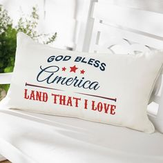 Bold, colorful and, most importantly, fun, our exclusive Freedom Patriotic    Pillow makes the perfect all-American accent from Memorial Day all the way    to Labor Day. What an awe-inspiring land we live in, and here's an    oh-so attractive way to show your affection for the red, white, and blue.    Red and white  Freedom Ring text on blue conveniently    reverses to a graphic display of blue with white stars on the back. You    enjoy twice the looks from a single pillow, and it's a del...