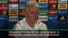 Heynckes considers tactical change without Lewandowski and Muller