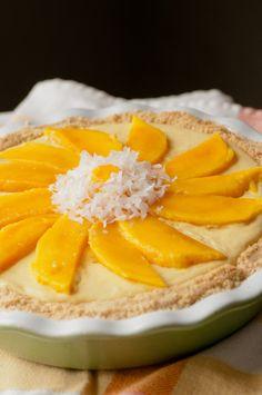 Mango Coconut Cream Pie