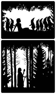 Laura Barrett - The Guardian's Great Fairytales - -  love the silhouettes!