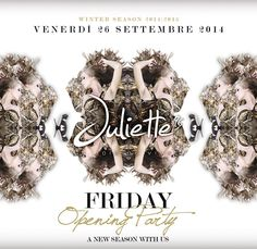 Venerdì 26 settembre | Opening party! | a new gorgeous experience!