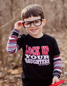 Baby Rock Apparel Lock Up Your Daughters Newborn Boy Clothes, Baby & Toddler Clothing, Toddler Outfits, Baby Boy Outfits, Kids Outfits, Children Clothing, Boys Fall Fashion, Little Boy Fashion, Trendy Boy Outfits