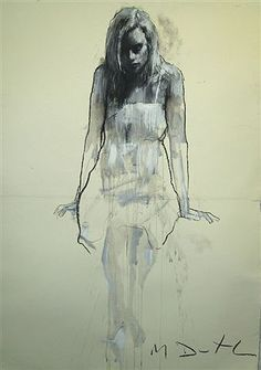 Pictures of the Mark Demsteader exhibition at the Panter & Hall Gallery. Human Figure Sketches, Figure Sketching, Figure Drawing, Mark Demsteader, Portrait Art, Portraits, Pastel, Cool Art Projects, Grisaille