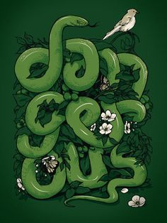 Cool Snake Typography. I love illustrative type