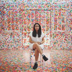 Children Cover an All White Room with Colorful Stickers in Yayoi Kusama's Latest Obliteration Room - My Modern Met